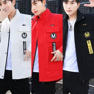 7L486 yeni İlkbahar ve beyzbol üniforma overallsAutumn mM8GP ceket erkek ceket tulum beyzbol üniforma Kore gençlik moda handso overalls