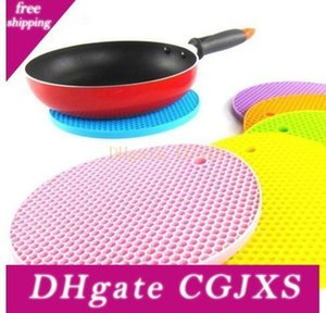Silicone Non -Slip Mat Pure Color Heat Resistant Mat Candy Color Thickened Casserole Mats Other Bakeware Wy319