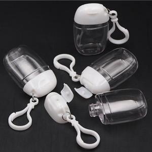 30ML Hand Sanitizer Flasche mit dem Schlüsselring-Haken freier transparentem Kunststoff Mehrweg-Spielraum-Flaschen Patry Favor YYA420