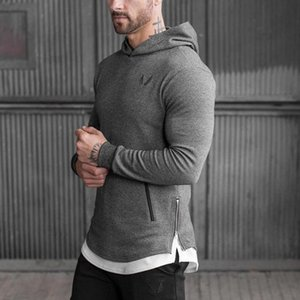 Mens Hoodies Male Casual Shirt Man s Clothing Sports Gym Wear Sweatshirts Hooded Fitness Bodybuilding Pullover Sportswear High Compression