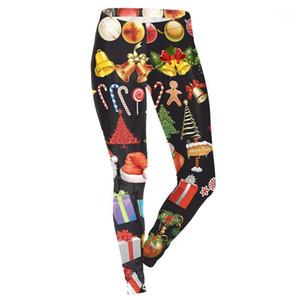 Noel Tayt Ayaklar Moda Kadınlar Dijital Küçük Elastik Pantolon Pantolon Tasarımcı Kadınlar Leggings Breathe yazdır Özellikleri
