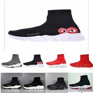 Balenciaga Luxury  calcetines zapatos para hombres mujeres blancas zapatos casuales de color rojo negro triples moda zapatillas de deporte de tobillo 40-45 SH2 DJB4
