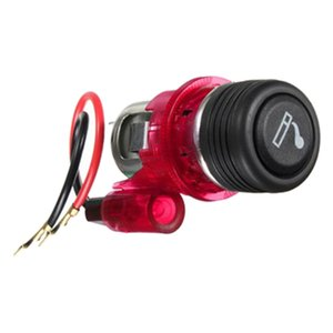 12V Cigarette Lighter Socket, Red, Universal for Car Truck
