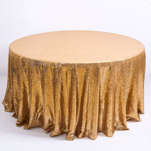 Multi Color Sequin Tischdecke Glitter Round Table Cloth für Hochzeit-Geburtstags-Party-Ausgangsdekor Rose Gold Silber Tischdecke