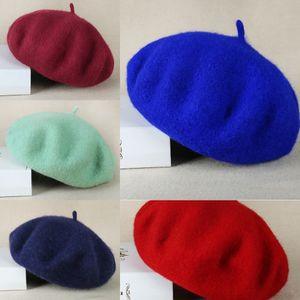 NcSo8 Осень и зима Теплого художника хуа Jia мао шляпа Jia мао теплой моды шерсть береты дама Корейского шерстяных стиль художник хуа мило случайный qg0os