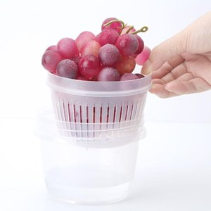 Frutta a pezzetti Cipolla Verde Preservation Box nitide Cucina Ginger Aglio bagagli rotonda Scolapasta Strainer Scarico scatola sigillata
