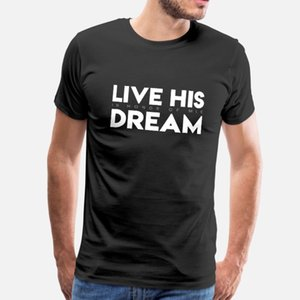 Son rêve en l'honneur de Mlk t hommes shirt personnalisé T-shirt rond Lettre du cou Lumière du soleil d'été nouveau style de mode Motif chemise