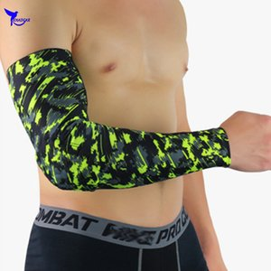 2 Pcs Honeycomb Protective Elbow Guard Support Elastic Arm Sleeve Pads Basketball Volleyball Sports Safety Training Brace Pads