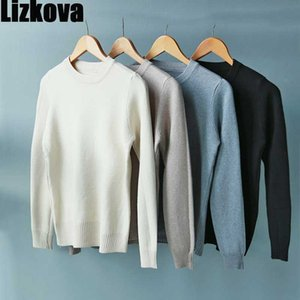 Lizkova Automne-O Pull à encolure Femme Blanc Pull tricoté Slim 2020 Pull en vrac Casual