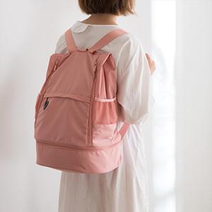 (20) 다기능 피트니스 가방 대용량 건식 및 습식 분리 스포츠 가방 쇼울더 백 팩 가방 커플 배낭 여행