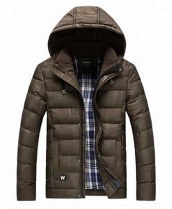 Giacche Moda Stripe Panelled Mens cotone imbottito cappotti casual Maschi abiti scuri grano del progettista del Mens cotone imbottito