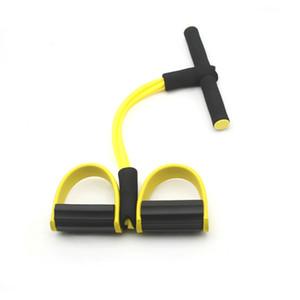 Fitness Gum 4 Rohrwiderstandsbänder Latex Pedal Exerciser Sit up Pull-Seil-Expander Elastische Bänder Yoga Ausrüstung Pilates Workout-Tool