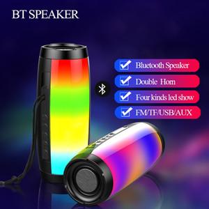 TG157 LED Flashing Light Bluetooth Speaker Portable With Rope Outdoor Loundspeaker 1200 mAh Fabric Waterproof Subwoofer FM Radio