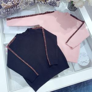 두 가지 색상 아기 소년 소녀 스웨터 가을 키즈 니트 스웨터 아기 겨울 따뜻한 풀오버 니트 의류