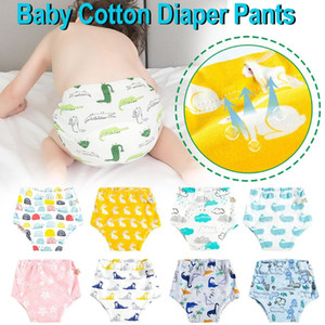 2020 Infant Baby Reusable Cotton Cloth Diapers Toddler Baby Cartoon Print Washable Training Pants panaleras para