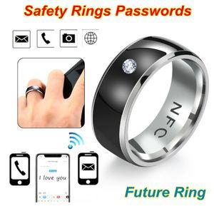 NFC الذكية البنصر أزياء متعددة الوظائف خواتم ذكية مضادة للماء للبس ربط جميع الروبوت تقنية حلقة acc242