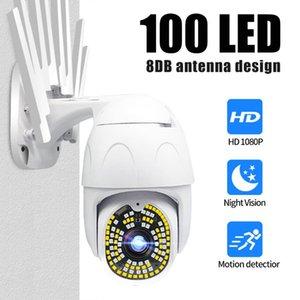 Guudgo 100 LED 1080P wifi Camera IP Camera Outdoor Wireless Wifi Security Surveillance Cameras 355° Pan Tilt Zoom Two Way Audio
