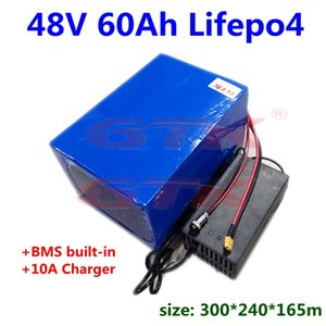 Golf Car Battery 48V 2000w 4000w LiFePO4 60Ah not 12v 60ah 80ah Lithium for Marine Camping E- Boat +10A charger