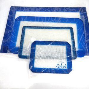 Cire silicone Tapis sec Herb Tapis grand carré Tapis DABBER Feuilles Dab outil pour la cire silicone fumeurs Baking Mat