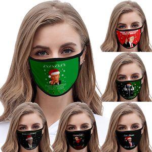 6 Art Weihnachts Trumpf Gesichtsmaske Make America Great Again Präsident Wahl Maske Trump 3D-Druck-Antistaub Waschbar Maske EWB1196