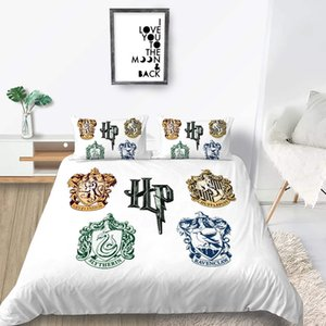 Different Style Bedding Set Harry Potter Fashionable 3D Duvet Cover Badge King Queen Double Twin Full Bed Set With Pillowcase 3pcs