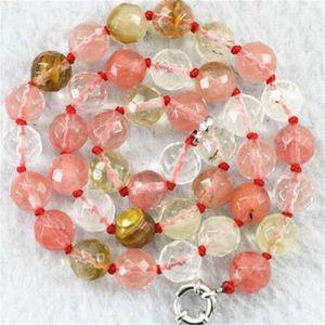 """Énorme 12mm multicolore à facettes pastèque Tourmaline collier de pierres précieuses 18"""""""