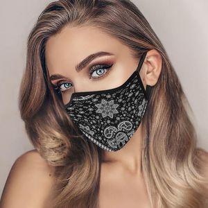 Europeu popular americana Máscaras Designer cara para o ciclismo Dustproof respirável laváveis Máscaras estilo étnico Hanging Ear Máscara Facial LJJA1544