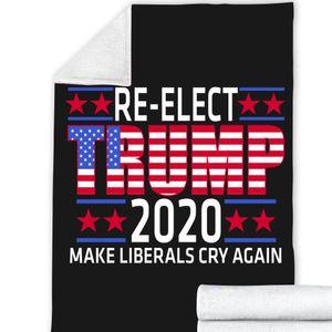 25style Trump 2020 Blankets 200*150cm 3D Printed Trump Blanket 2 Layer Winter Throw Blanket Make America Great Again Sea shipping GGA3638