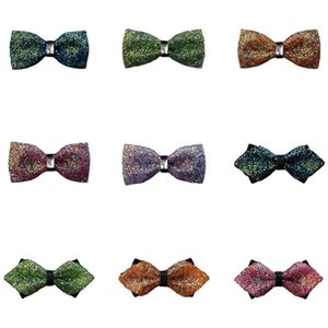 Men Luxury Sparkling Crystal Pre-tied Bowties Noble Shiny Rhinestone Bow Ties BWTQN0310