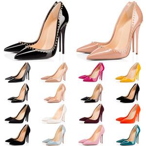 Christian Louboutin 2020 più nuovi con il sacchetto di polvere scatola inferiori rosse tacchi alti le donne di moda fondo scarpe casual da sposa d'epoca triple picchi di lusso