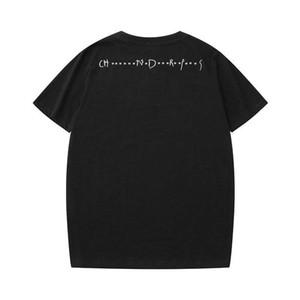 Mens al por mayor hombres de la camiseta floja Tees Cartas Curva Rmbroidery respirable del verano de manga corta de la venta superior camiseta tamaño asiático
