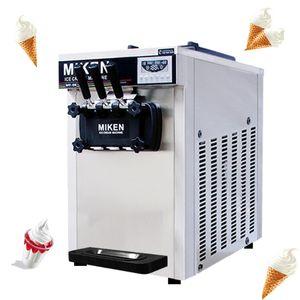 Коммерческий Soft Ice Cream Machine Desktop Soft Serve мороженице Три Головы Soft Ice Cream Machine