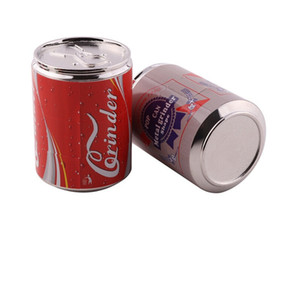 4 Layers 56*40mm Can Tobacco Grinders Can Letter Metal Grinders Can Tobacco Grinder Metal Smoking Accessories