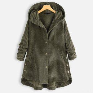 delle donne I4aNb disegno caldo Wick vestiti i vestiti di vendita 2020 autunno e inverno nuovo cotone imbottito cappotto di velluto a coste con cappuccio giacca di cotone imbottito
