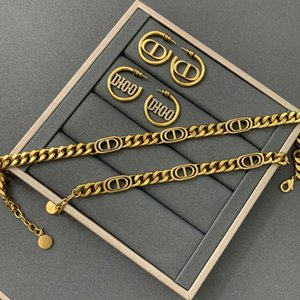 Inicio D 2020 Nuevo CD collar de carta de la industria pesada de celebridades en línea pulsera de las mujeres pendientes de alta versión