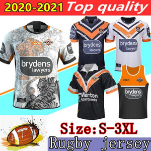 2020 2021 West Tigers Rugby-Trikots Shirts 19 20 21 Australien Rugby Wests Tigers Jersey West-Tiger Rugby Shirt Vest Shorts S-3XL