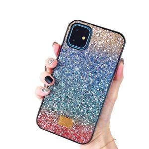 Gradient Glitter Premium Rhinestone Case Luxury Designer Women Defender Phone Case For iPhone 11 Pro Xr X Xs