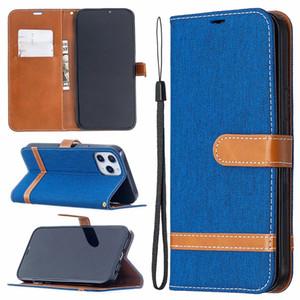 Jean hybride Housse en cuir pour Samsung Note 20 Ultra S20 Plus A21S A31 A21 Tissu Mode Hit Couleur COUVERTURE carte d'identité fente Porte Pouch