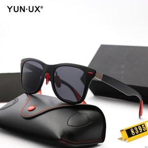 Стиль 5 Vintage поляризованные солнцезащитные очки Ultralight кадр Мужчины Женщины Мода очки высокого класса на заказ YU-8395-M поляризованные линзы F0259Y 3P Sun