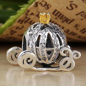 Kristal Boncuk Fit 925 Gümüş Boncuk Charm Pandora bilezik bilezik takı ile Orijinal Külkedisi kabak koçu