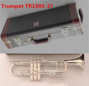 PROFESIONAL BB Trumpet Bach TR190S-37 Instrumentos plateados Plata Musicales Accesorios de boquilla Envío gratis