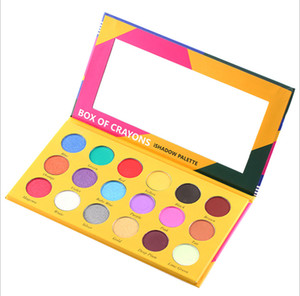 New Arrival Makeup Palette BOX OF CRAYONS Eye Shadow Palette 18 Colors Matte & Shimmer Eyeshadow Palette Cosmetics