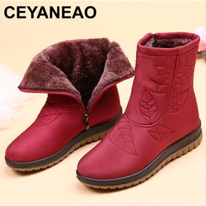 CEYANEAOWomen Boots Winter Shoes Women Plus Insole Snow Boots High Quality Fur Ankle Boots for Women Waterproof Winter shoesE751 CX200819