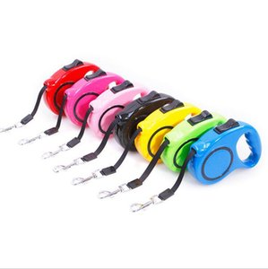 Retractable Dog Leash Automatic Extending Pet Walking Leads 3m Pulling Dog Lead Leash Lock Training Strip Rope Pet Supplies 7 Colors Yw915