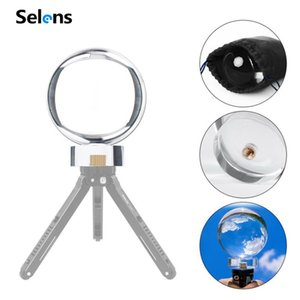 Selens 60mm 80mm 90mm K9 Crystal Glass Ball DIY Photography Studio Accessories With 1 4'' Screw Free Stand for Photography Prop