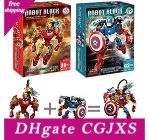 6 стилей Мстители Super Hero Building Blocks собрание Robot Building Block Superhero Капитан Америка Дети Diy Blocks Детские игрушки Эмс