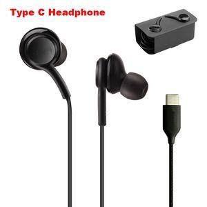 OEM-Qualität USB-C Jack Kopfhörer für Note 10 Plus-S20 Ultra-Wired Headset für Samsung Galaxy A8S A9S Typ C Stecker-Kopfhörer