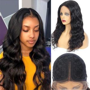 Parrucche di pizzo Corpo Onda anteriore Parrucca Brasiliana Estensibile per le donne Perruque Cheveux Humain 10-28 Lunga chiusura umana