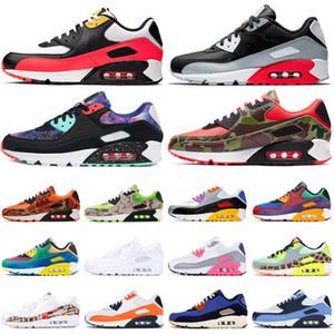 Nike air max 90 airmax Scarpe da corsa uomo rosso nero classic donna Triple Nero Bianco Giallo blu scarpe da ginnastica da uomo outdoor speed hiking athletic jogging Shoes
