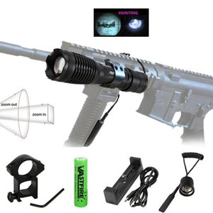 10W IR 940nm Tactical Hunting Zoomable Focus Infrared Radiation Lamp Night Vision Gun Light+Rifle Mount+Switch